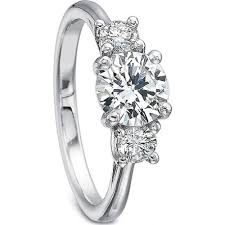 engagement ring setting precision set three diamond engagement ring setting h l