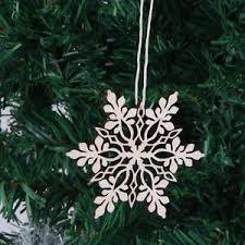 10x wood laser cut gift tag tree ornaments swirl