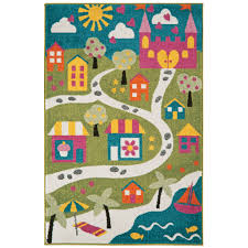 Rugs For Kids Bedroom by Kids Fun Interactive Multi Play Town Map Bedroom Rug Kukoon