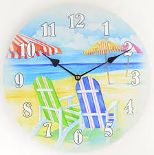 themed wall clock wall clock clock summer clock