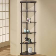 Corner Bookcases Venetian Worldwide Lang Cappuccino Corner Bookcase V 800279 The
