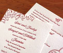 punjabi wedding cards sikh letterpress wedding invitations invitations for sikh wedding