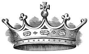 10 best images of black and white crown printable clip art