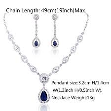 necklace pendant size images Gulicx aaa cubic zirconia cz silver plated base women 39 s party jpg