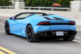 Lamborghini Huracan Back View - lamborghini huracan spyder review 2015 parkers