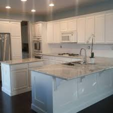 White Cabinets Granite Countertops by Furniture Kashmir White Granite Countertop For Beautify Kitchen