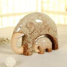 cute ceramic elephant home decoration simple and modern office