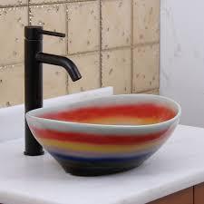 elite 1556 oval multicolor glaze porcelain ceramic bathroom vessel