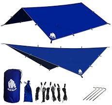 chill gorilla 12 u0027 hammock rain fly tent tarp and waterproof camping sh