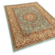 Overstock Area Rugs Pasha Collection Medallion Traditional Ocean Blue Area Rug 7 U002710 X