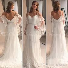 hippie boho wedding dresses discount vestido hippie boho lace sleeve backless wedding
