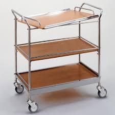 designer servierwagen beistellwagen design servierwagen eb 0248 edelstahl fürs büro