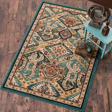 Area Rugs With Turquoise And Brown Southwest Rugs 4 X 5 Moon Dancer Rug Lone Western Decor