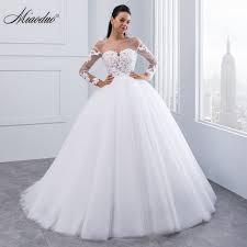 robe de mari e dentelle manche longue miaoduo nouvelle arrivée robe de noiva appliques à manches longues