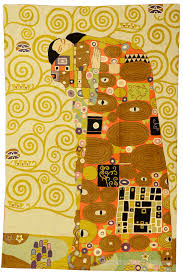 Modern Wool Rugs Sale Klimt Wool Rug Wall Tapestry Embroidered 6ft X 4ft