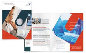 brochure design software computer software company brochure template design