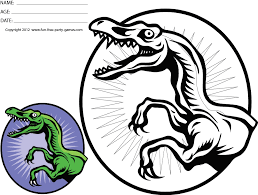 free coloring dinosaur coloring