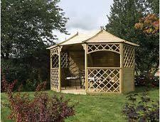 Argos Gazebos And Garden Awnings Wooden Hexagonal Gazebos Ebay