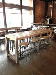 Reclaimed Wood Bar Table Reclaimed Wood Community Bar Restaurant Table Is Well Sanded And