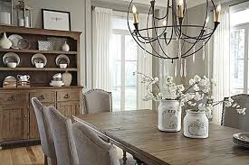 The Tanshire Counter Height Dining Room Table From Ashley - Gray dining room furniture