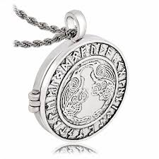 locket necklace aliexpress images Pewter odin 39 s ravens huginn and muninn norse rune pendant jewelry jpg
