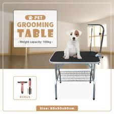 large dog grooming table 80x50x80cm portable large pet dog grooming table folding bench l new