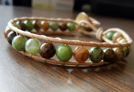 leather bracelet with beads images How to make wrapped leather bracelets rings and things jpg