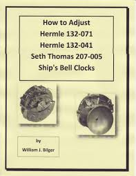 how to adjust hermle 132 071 132 041 seth thomas 207 005