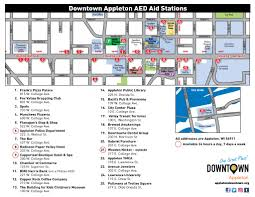 Appleton Wisconsin Map by Automated External Defibrillators Aeds