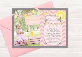 pink lemonade stand invitation birthday invitation kids