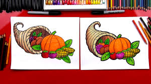 thanksgiving cut and paste how to draw a cornucopia art for kids hub