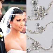 ladies hair pieces for gray hair 2017 new kim kardashian real images water drop pendants crystal