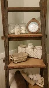 Bathroom Ladder Shelf by 17 Best Images About Our Newly Renovated Farmhouse Bathroom On