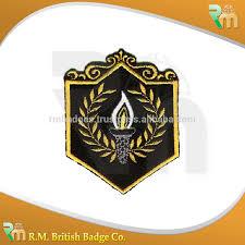 Flag Badges Embroidered Blazer Badges Embroidered Bullion Crest Handcrafted Gold And