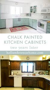 can i use chalk paint on laminate kitchen cabinets chalk painted kitchen cabinets two years later