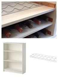 ikea narrow bookcase turn a small bookcase into a wine shelf ikea billy bookcase