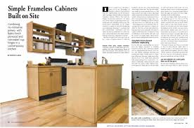 how to build frameless kitchen cabinets on site