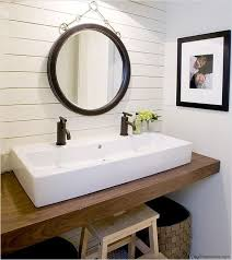 Small Bathroom Sink Vanity No Room For A Sink Vanity Try A Trough Style Sink With Two