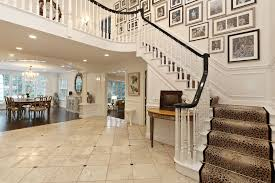 traditional staircase with wainscoting columns in scarsdale ny