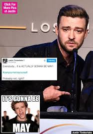 justin timberlake mocks himself with amazing it s gonna be may