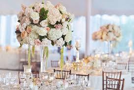 reception décor photos white u0026 peach reception centerpiece