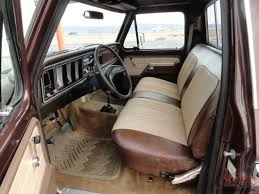 Classic Ford Truck Seat Covers - restored interior of a 1964 ford step side f 100 pickups