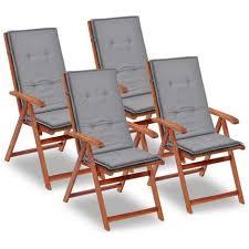 cuscini per poltrone da giardino 4 pz cuscini per sedie da giardino grigi 120x50x3 cm