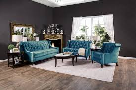 Living Room Chairs Made In Usa Limerick Dark Teal Fabric Loveseat Made In Usa