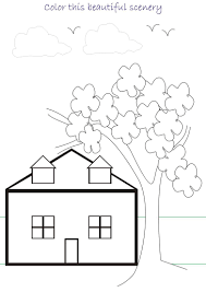 good scenery coloring pages 37 seasonal colouring pages