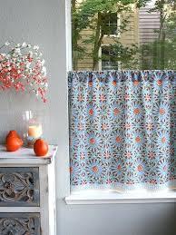 Moorish Tile Curtains Moorish Tile Curtain Tile Print Kitchen Curtain Tier Curtain Blue