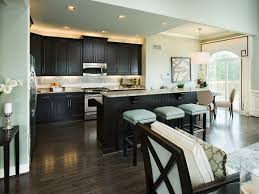 kitchen wall colors with dark cabinets dark expresso cabinets with light teal walls my cabinets and floors