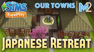 Home Design For Sims Freeplay Sims Freeplay Japanese Retreat Original House Design Youtube
