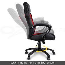 Gaming Swivel Chair New Executive Pu Leather Office Computer Chair Black 27 Picture