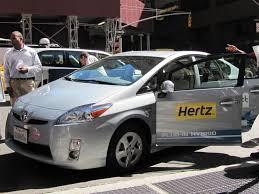 nissan maxima enterprise rental image hertz electric car rental press event new york city